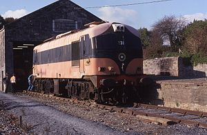 Irish Traction Group - Locomotive C231 at Carrick-on-Suir prior to restoration. This engine is now operational at the Downpatrick and County Down Railway.