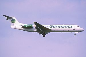 Germania (airline) - A now retired Germania Fokker 100