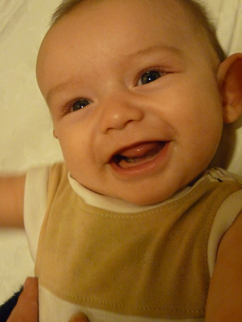 3.5-month-old baby laughing
