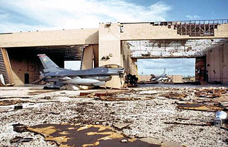 307th Fighter Squadron - Squadron aircraft at Homestead after Hurricane Andrew