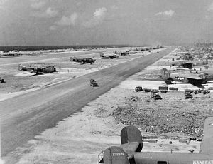 30th Operations Group - 30th Bombardment Group B-24 Liberators at Kwajalein Airfield, Kwajalein, Marshall Islands, 1944