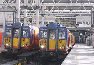 British Rail Class 455 - A pair of South West Trains Class 455/8s at London Waterloo