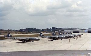No. 45 Squadron RAF - 45 Sqn. Canberra B.15s at RAF Tengah, Singapore, in 1963.