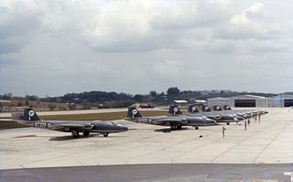 No. 45 Squadron RAF - 45 Sqn. Canberra B.15s at RAF Tengah, Singapore, in 1963