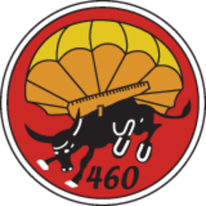 460th Parachute Field Artillery Battalion (United States) - Shoulder Sleeve Insignia of the 460th Parachute Field Artillery Battalion.