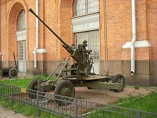 37 mm automatic air defense gun M1939 (61-K) Anti-aircraft gunAutocannon