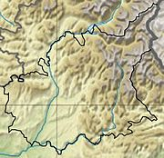 Topographic map with Alpes-de-Haute-Provence boundaries marked