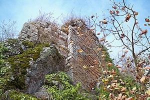 Château de Hohenstein - Image: 67 Oberhaslach, château de Hohenstein les murs du logis
