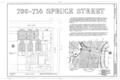 700-714 Spruce Street (Houses), Philadelphia, Philadelphia County, PA HABS PA,51-PHILA,321- (sheet 1 of 4).png