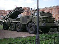 Lanzacohetes 9P140 Uragan fueron usados durante la Segunda Guerra Chechena.