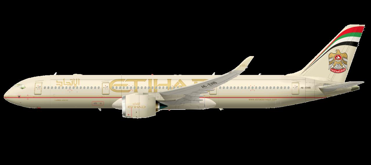 Airbus A350 ( avion a reacción de fuselaje ancho Unión Europea ) 1280px-A350XWB-941_ETIHAD_AIRWAYS