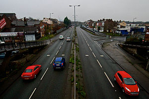 A5036 road - Image: A5036 Port of Liverpool 5