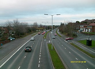 A55 road (Northern Ireland) - The A55 at Knockbreda in south Belfast. (View eastwards.)