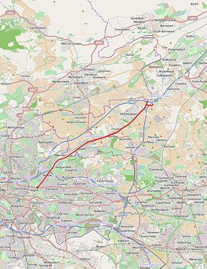 A80 road (Scotland) - Image: A80 road map