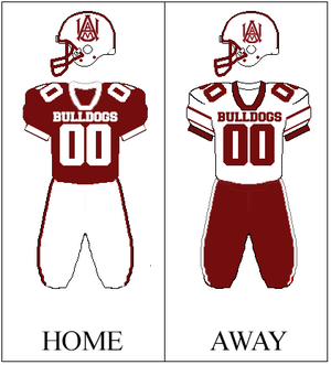 Alabama A&M Bulldogs football - Image: AAMU Football Uniform
