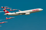 AIR14 Swiss A330 and Patrouille Suisse(1512022038).jpg