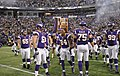 AJ Jefferson, Christian Ballard, and Vikings in 2012 pregame intro.jpg
