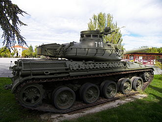 Tanks in the Spanish Army - A AMX-30E tank on display at El Goloso