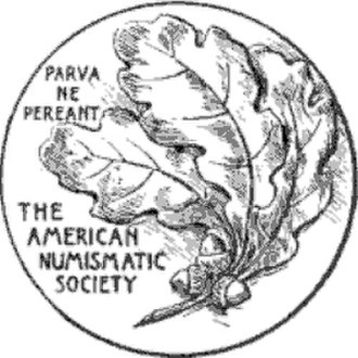 American Numismatic Society - Logo of the Society, from a 1918 publication