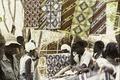 ASC Leiden - Coutinho Collection - E 02 - Shop in Sara, Guinea-Bissau - Women choosing tissues - 1974.tif