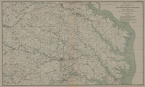 Battle of Spotsylvania Court House - Map of Southeastern Virginia.