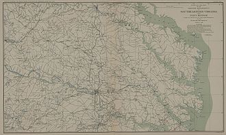 Overland Campaign - Map of Southeastern Virginia