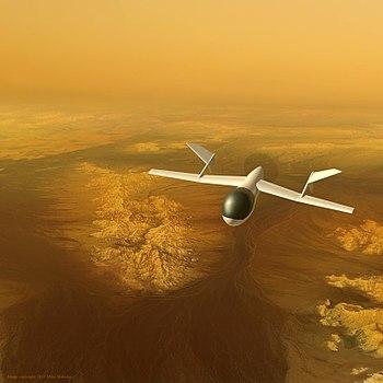 AVIATR aircraft over Titan's bright terrain.jpg