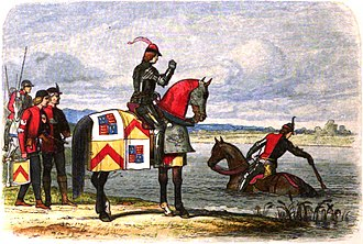 Buckingham's rebellion - Buckingham finds the River Severn swollen after heavy rain, blocking his way to join the other conspirators.