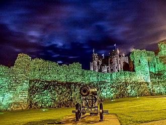 Trim Castle - Trim Castle at night.