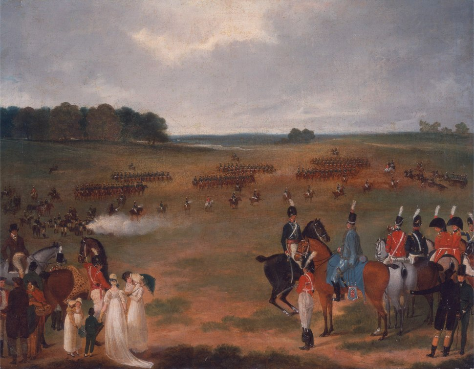 A Review of the London Volunteer Cavalry and Flying Artillery in Hyde Park in 1804