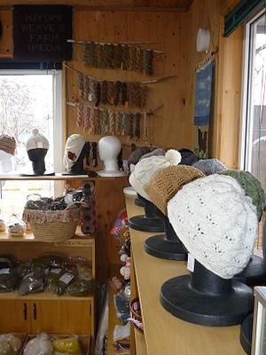 Ikeda, Hokkaido - A wool shop in Ikeda