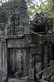 A false door & pediment near the entry into the ruins. (3746632806).jpg