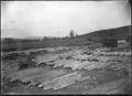 A fleet of white pine logs at Christie's Mill, Hikurangi, 1911. ATLIB 286243.png