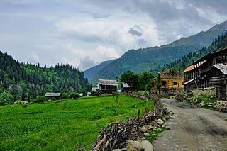 Halmat Village in Azad Kashmir, Pakistan