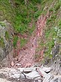 A small landslide in the Devonian rocks, Torcross - geograph.org.uk - 1622365.jpg