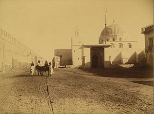 Zawiya (institution) - A zaouia next to the city wall of Kairouan in Tunisia in the early 20th century