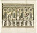 Aanstaande Eenheid en Onverdeelbaarheid, van het Bataafse Gemenebest en de Alliantie, decoratie op het Stadhuis op de Dam, 1795 Afbeelding der Illuminatie voor het Huis der Gemeente (titel op object) Vijftien decoratie, RP-P-1983-57.jpg
