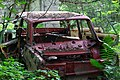 Abandoned red lada near the town of Chernobyl 2018.jpg