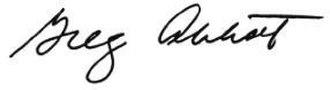 Greg Abbott - Image: Abbott Signature