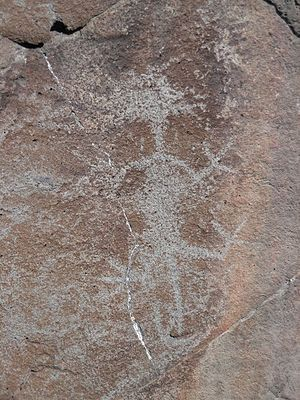 National Register of Historic Places listings in Lake County, Oregon - Image: Abert Lake petroglyph figure