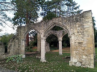 Abingdon Abbey - Part of the remaining ruins of Abingdon Abbey's folly.
