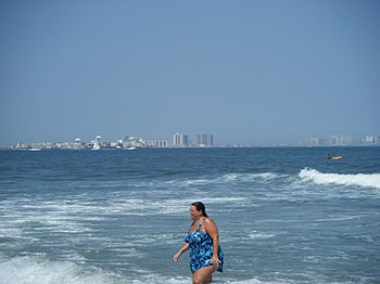Absecon Island viewed from Ocean City, New Jersey
