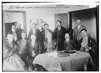 Osachi Hamaguchi - Adachi Kenzō, Osachi Hamaguchi, Toshio Shimada, Baron Kato, Kataoka Naoharu, and Ema Koigumi in 1916