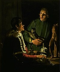Two Sculptors at Night in Rome. Double Portrait of Francois Duquesnoy and Georg Petel