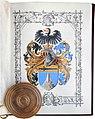 Adelsdiplom - Demelt von Karlstreu 1890 - Wappen.jpg
