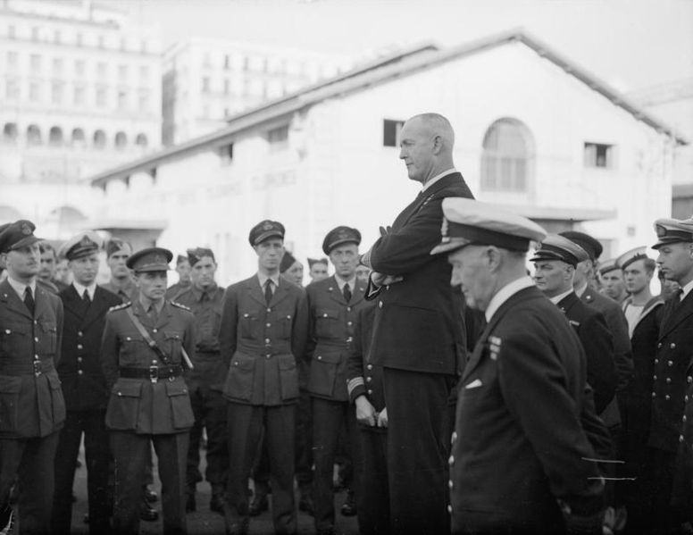 File:Admiral Cunnningham Inspects Men Who Took Part in North Africa Operations. 24 December 1942, Algiers, Admiral Sir Andrew Cunningham, Naval Commander-in-chief, Expeditionary Force, Inspected Naval and Airforce P A13655.jpg