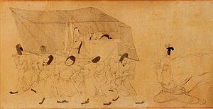 Admonitions Scroll - A scene from the Palace Museum version of the Admonitions Scroll