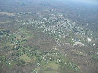 Kane, Pennsylvania - Image: Aerial shot of Kane looking northwest