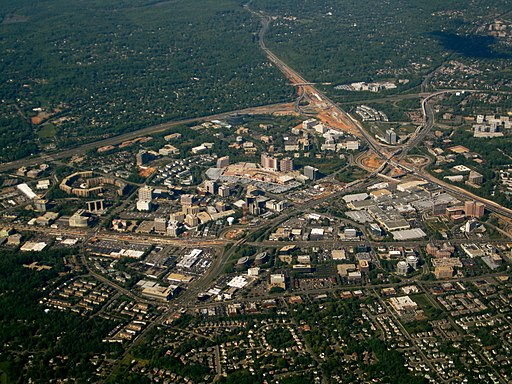 Aerial shot of Tysons Corner, Virginia 2010