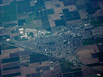 Dixon, California - Aerial view of Dixon